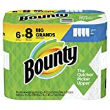 Bounty Select-A-Size Paper Towels, White, 6 Big Rolls (Equal to 8 Regular Rolls)