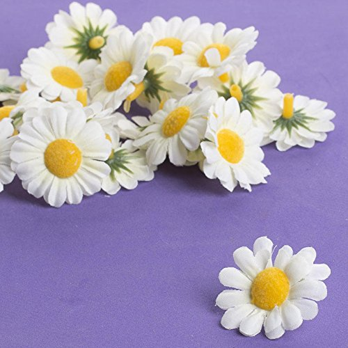 Factory Direct Craft Group of 48 Artificial Daisy Floral Heads Decorating, Crafting and Creating