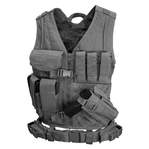 Condor Cross Draw Vest (Black, X-Large/XX-Large)