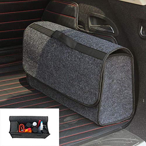 Car Storage Bag,Trunk Cargo Organizer Caddy Foldable Storage Collapse Bag Bin for Car Truck SUV ()