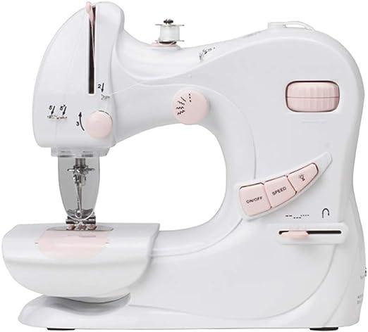 Mini máquina de coser Máquina de coser eléctrica portátil de doble velocidad con 12 patrones de puntada Lámpara de pie para principiantes y niños: Amazon.es: Hogar