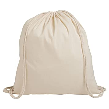 10 x Juego de 10 algodón bolsa de deporte bolsa algodón Mochila Bolsa de deporte, naturaleza: Amazon.es: Deportes y aire libre
