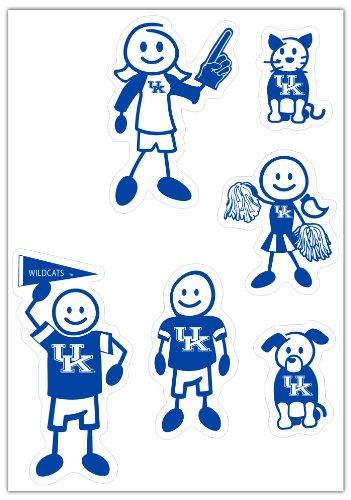 Kentucky Decal Set - Siskiyou NCAA Kentucky Wildcats Small Family Decal Set