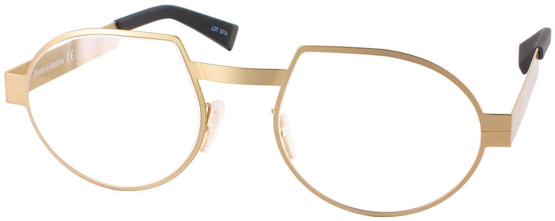 Seeoo Visionary Single Vision Full Frame Designer Reading Glasses, Gold, +1.25