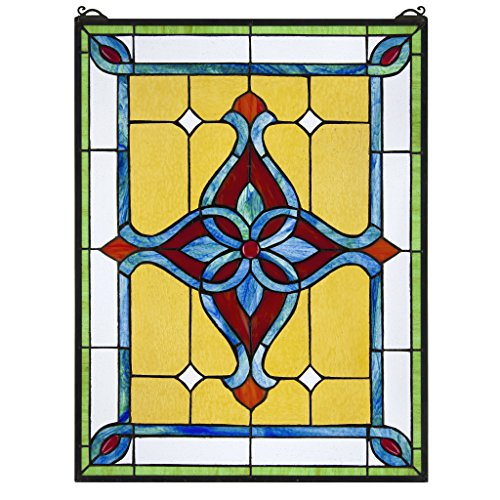 (Stained Glass Panel - St. Katherine's Row Stained Glass Window Hangings - Window Treatments)
