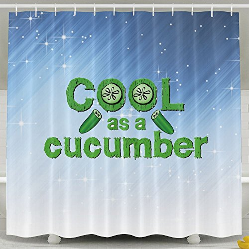 HUANGLING Cool Cucumber Shower Curtain - Aloha Hawaiian Chocolate Shirt