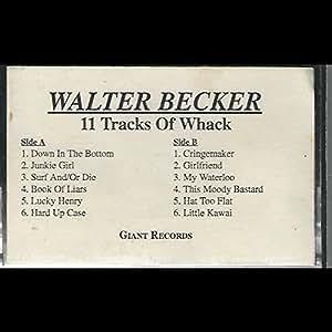 Walter Becker 11 Tracks Of Whack Cassette Nm Usa Giant