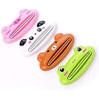 Tmrow 1PC Cartoon Animal Plastic Frog Cat Panda Pig Shaped Toothpaste Squeezers Face Cream Squeezer Random Color