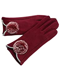 The New Women's Winter Gloves Touch Screen Not Fall Down,1