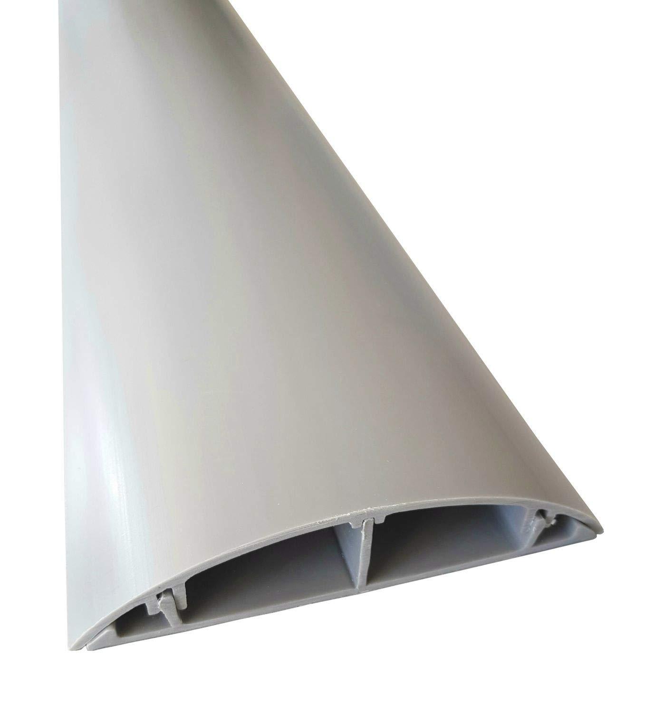 1m Fuß boden Kabelkanal PVC oder ALU selbstklebend in verschiedenen Breiten, Grö ß e Kabelkanal:40mm, Farbe Kabelkanal:weiss NETPROSHOP