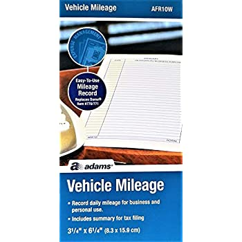 amazon com adams afr10w vehicle mileage log office products