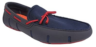 latest sale super cheap compares to reasonably priced Swims Men's Braided Lace Loafers, Blue (Navy/Red), 6 UK 40 EU