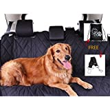 """Pet Seat cover, Car Seat Cover For Pets - Pet Car Seat Cover By Golden Ranch Pets - 54""""x58"""", Waterproof, Rubber Non Slip Backing, Seat Anchors, Easily Cleaned, Bench/Hammock Style, Storage Bag"""