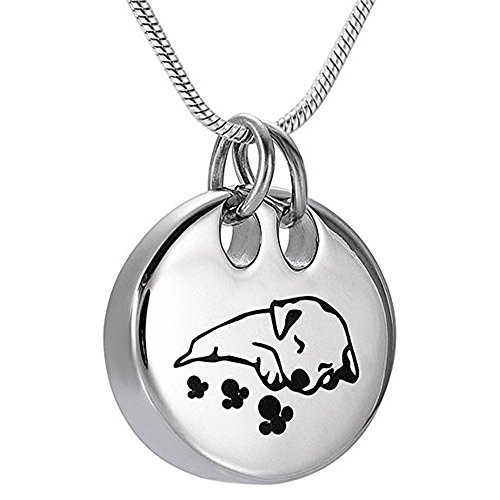 Pet Memorial Jewelry Cremation Urn Necklace -Sleeping Dog Keepsake Pendant Jewelry For Ashes by EternityMemory (Image #6)