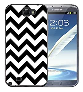 For Iphone 5C Case Cover BlackBlack and White Chevron Print