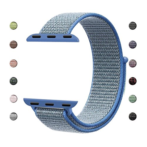 iCear Watch Band 38mm Woven Nylon Sport Loop Replacement Ban