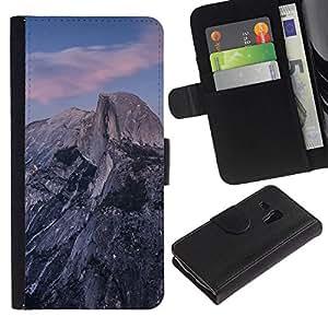NEECELL GIFT forCITY // Billetera de cuero Caso Cubierta de protección Carcasa / Leather Wallet Case for Samsung Galaxy S3 MINI 8190 // Hermosa Montañas Rocosas