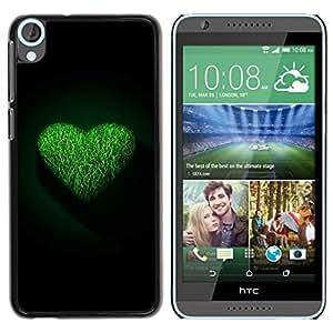 LECELL -- Funda protectora / Cubierta / Piel For HTC Desire 820 -- Green Heart --
