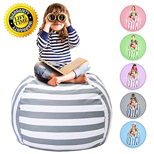 WEKAPO Stuffed Animal Storage Bean Bag Chair for Kids | 38