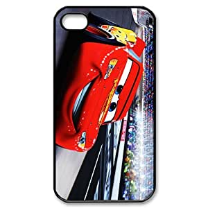 Animated Film&Cars 2 World Grand Prix Case Cover for iPhone 4/4S - Personalized Cell Phone Protective Hard case Shell