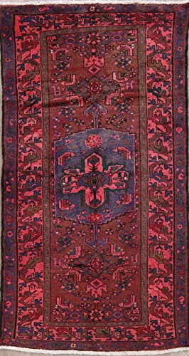 (Hamadan Persian Design Area Rug Wool Handmade Oriental Geometric 4 x 7 Carpet)