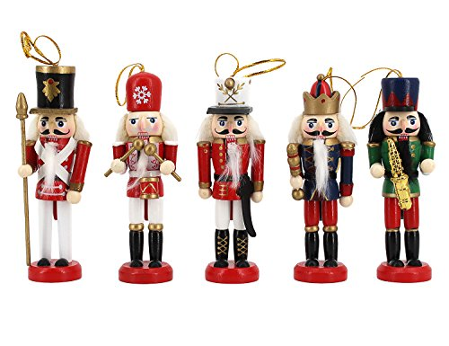 Musical Nutcracker Dress - Novia's Choice Music Band Nutcrackers Soldiers Wooden Puppet Christmas Ornament Home Decoration 5pcs Sets