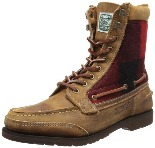 Sebago - Stivali, Uomo, Multicolore (Brown/Red/Black Wool), 44 (10 uk)