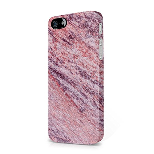 (Rough Sunstone Marble Print Apple iPhone 5, iPhone 5s, iPhone SE Plastic Phone Protective Case Cover)