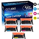 Compatible 5-Pack 406S CLT-K406S CLT-C406S CLT-M406S CLT-Y406S CLT-406S Toner Cartridge Used for Samsung CLX-3305FW 3307FW SL-C460FW C462FW C463FW CLP-365W 367W Printer (2xBK/C/M/Y), by EasyPrint