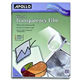 Apollo Write-On Transparency Film, 8.5 x 11-Inches, Clear, 100 Sheets Per Box (VWO100C-BE)