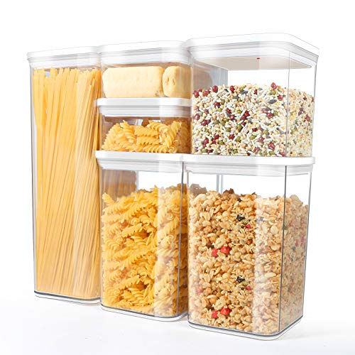 TBMax Airtight Food Storage Containers 6 Pieces – Pantry Organization and Storage Container Set with Lids for Cereal…