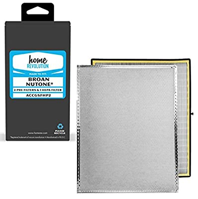 Home Revolution Replacement Filter, Fits Broan Nutone and Venmar Air Exchanger Air Purifier and Part ACCGSFHP2
