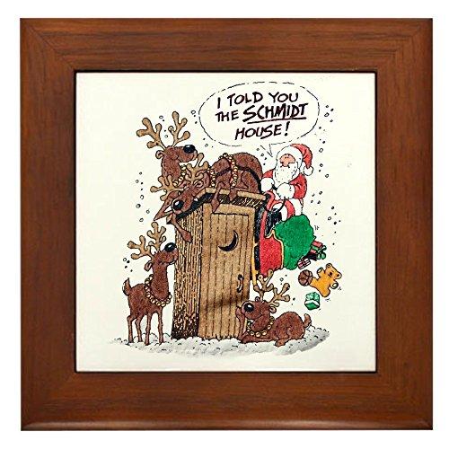 Framed Tile Santa Claus Told The Schmidt House - Santa Framed Tile