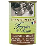 Chanterelles Mushrooms in Water - 1 can, 14.1oz net weight, Drained Weigh 7.9 oz