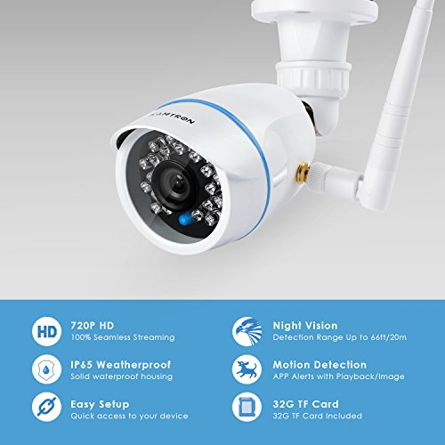 kamtron wireless security camera outdoor wifi surveillance. Black Bedroom Furniture Sets. Home Design Ideas