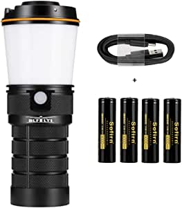 sofirn BLF LT1 Lantern, LED Rechargeable Camping Lantern, 8X Samsung LH351D LEDs Powered by 4X 18650 Batteries for Camping, Hiking, Fishing, Cellar/Basement