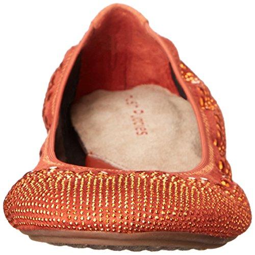 Chouchous Chush Femmes Ballet Chaste Plat Orange Foncé