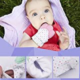 Baby Teething Mitten by Giftty, Self Soothing Teether & Teething Pain Relief Toy, Prevent Scratches Glove Stay on Baby's Hand, Unisex for 0-6 months Baby (1-Pack, Mint)