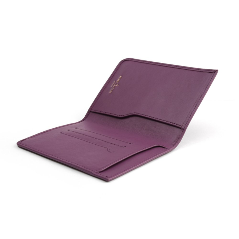 Story Leather Handcrafted Genuine Leather Passport Travelers Wallet - Purple by Story Leather