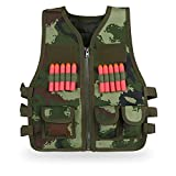 Kids Tactical Vest with Soft Bullets Outdoor CS Field Protection Vest for Nerf