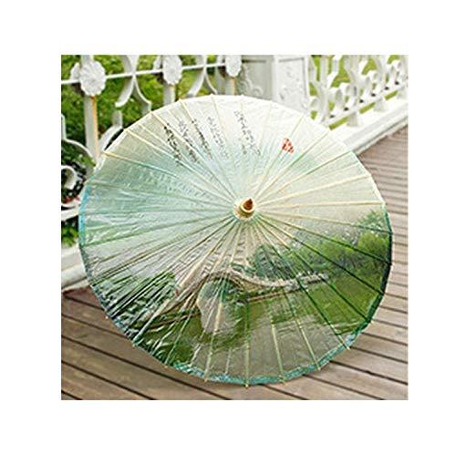 Classical Oiled Paper Umbrella Handmade Oriental Decorated Japanese Geisha Dance Props,A12 ()