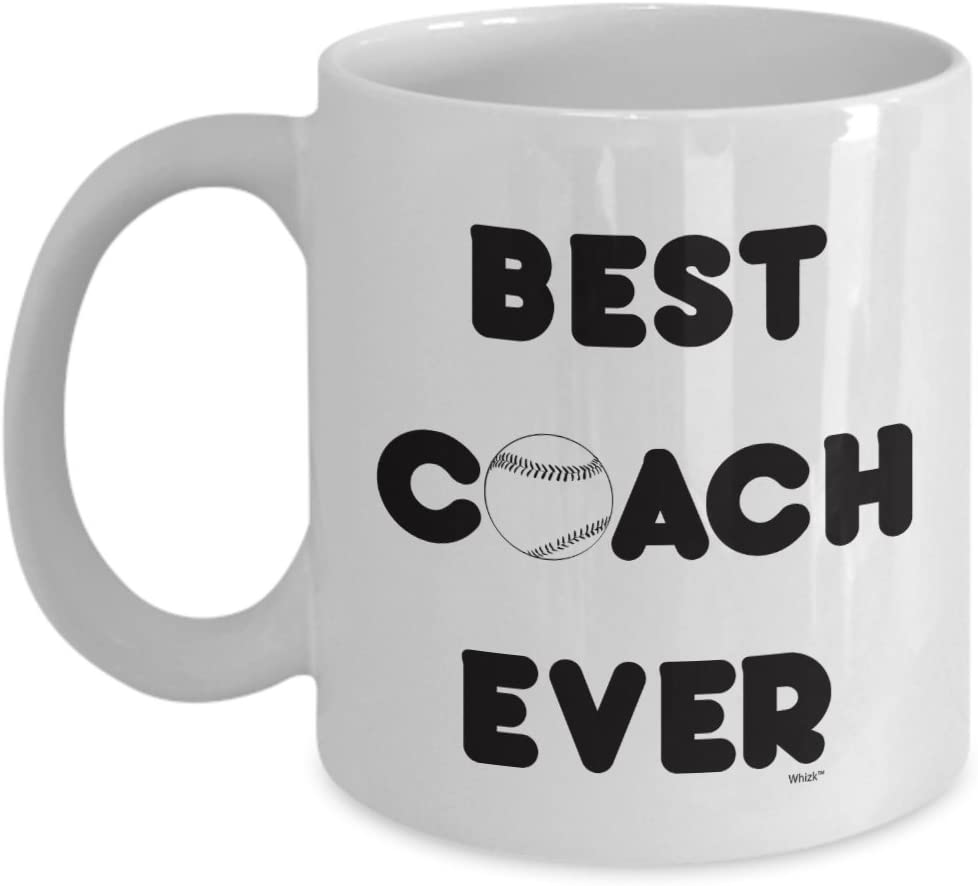 Amazon Com Best Coach Coffee Mug Baseball Funny Coach Gift Ideas From Teammates For Birthday Christmas 11 Oz White Novelty Cup By Whizk Kitchen Dining