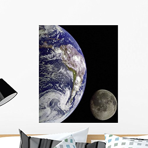 Cheap  Wallmonkeys Earth from Outer Space Wall Mural Peel and Stick Graphic (24..