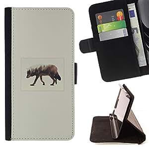 Momo Phone Case / Flip Funda de Cuero Case Cover - Elk Arte;;;;;;;; - Apple Iphone 5C