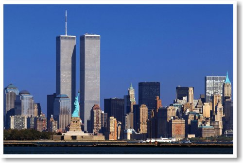 World Trade Center - Twin Towers - NYC - NEW World Travel Poster (New Trade World Towers)