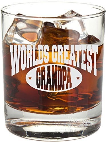 World's Greatest Engraved Whiskey Glass, Etched 11 oz Rocks Glass for Bourbon, Scotch, Liquor - RG17 (Grandpa) Mugsan