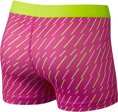 Nike pantalón por Bolt 7.62 cm pantalones cortos para mujer BLACK/WHITE/VOLT Talla:small rosa - rosa