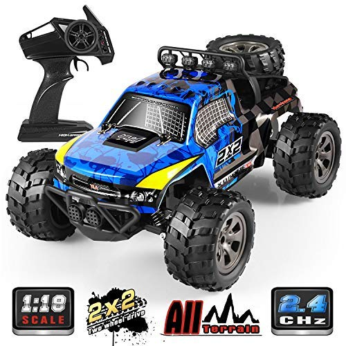 RC Car, 1:18 All Terrain Remote Control High-Speed Offroad 2.4Ghz 2WD Remote Control Monster Truck, Best Gift for Kids and Adults ()