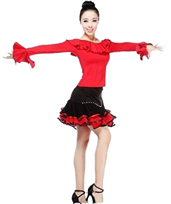 05a342516f90 Eyekepper Women's Tops & Skirts Ballroom Salsa Samba Rumba Tango Latin  Dance Dress at Amazon Women's Clothing store: