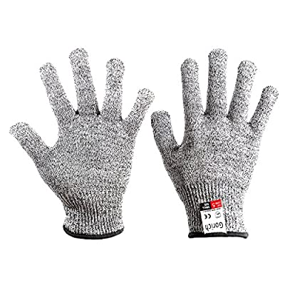 Gorich Cut Resistant Gloves - High Performance Level 5 Protection?Food Grade?Safety Kitchen Gloves for Cutting?Oyster Shucking?Fish Fillet Processing, Yard Work Doing ,1 pair
